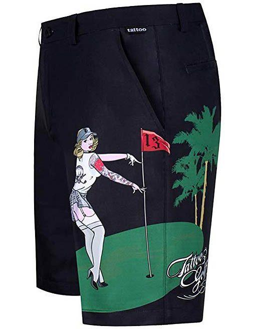 big and tall crazy golf shorts