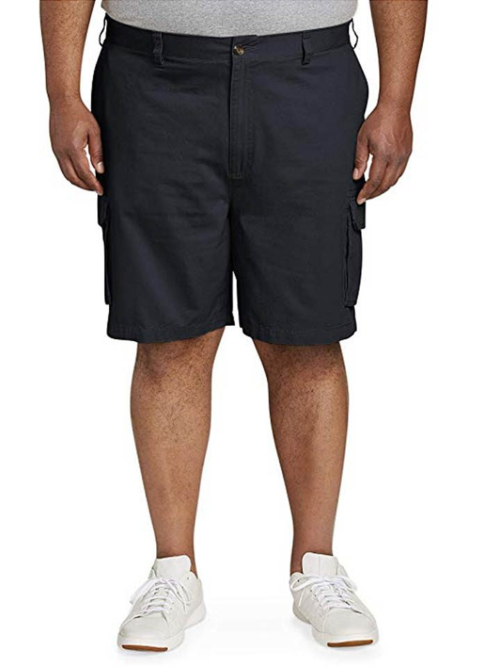Men's Big and Tall Cargo Short Fit by DXL-Mens Big and Tall Golf Apparel