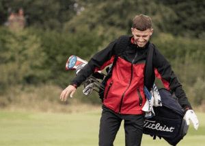 Mens Big and Tall golf rain jacket