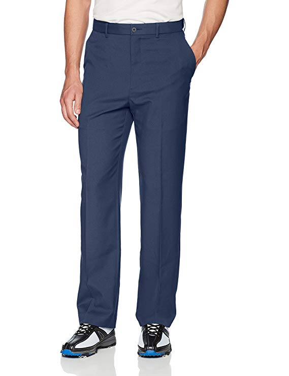 PGA TOUR Men's Flat Front Golf Pant with Expandable Waistband