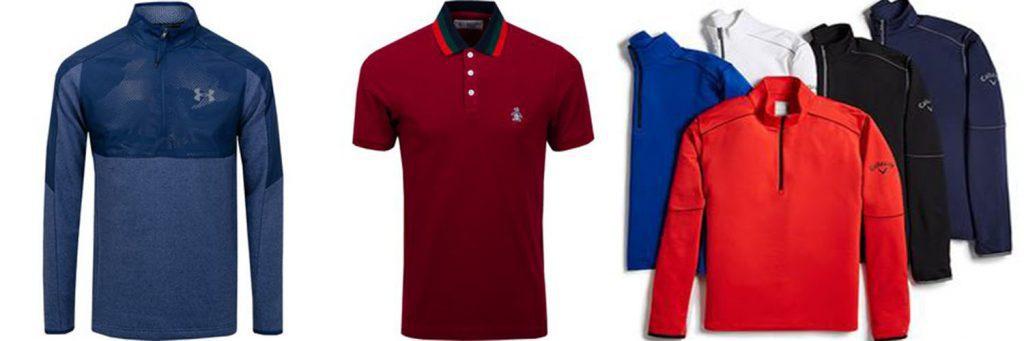 Mens big and tall golf shirts