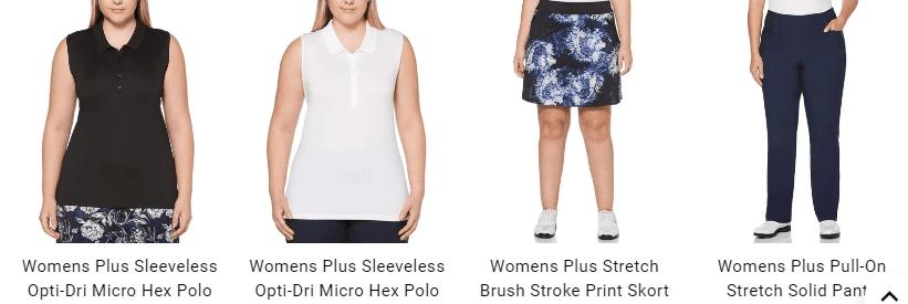 Plus size womens golf clothes