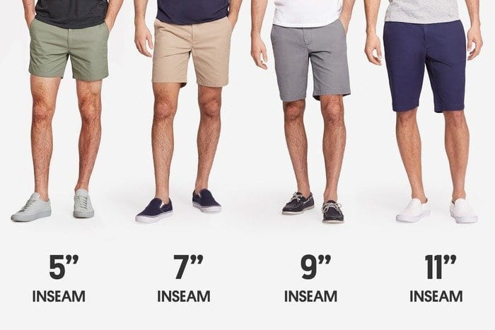 inseam of your golf shorts, how long should my shorts be