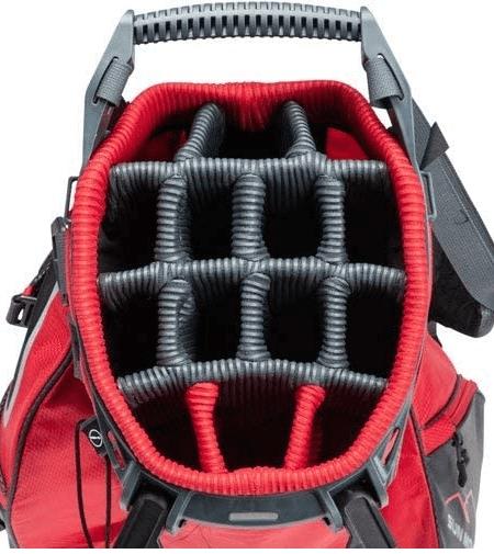 golf bag with individual club slots