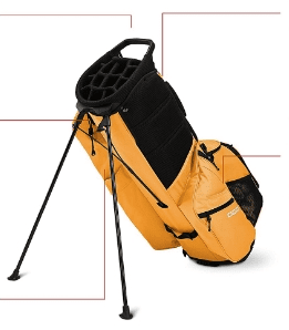 golf bags with individual club slots
