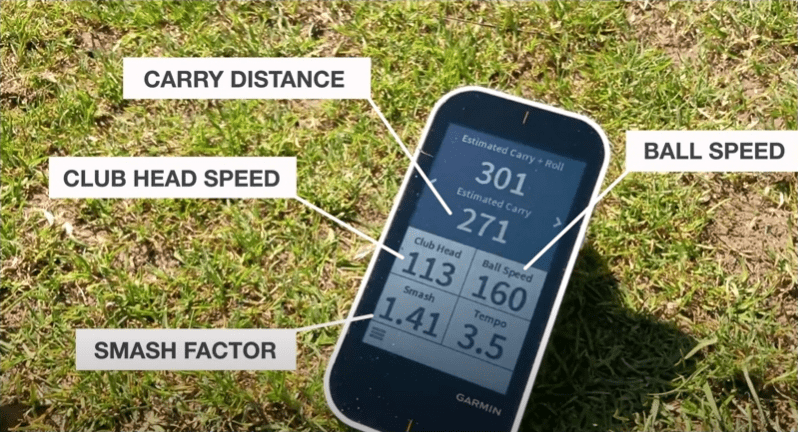 types of data captured by an average golf launch monitor